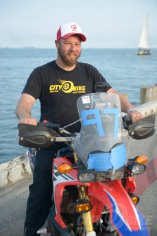 Fish strikes his most professional headshot pose at the Moto Bay Classic.