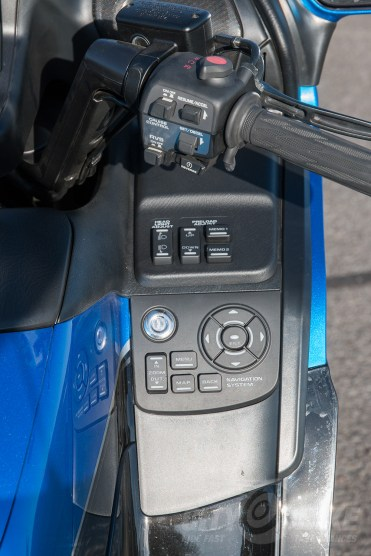 Right side controls on the 2017 Honda Gold Wing.