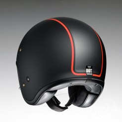 Shoei J•O open face helmet - Caburetor - black, rear