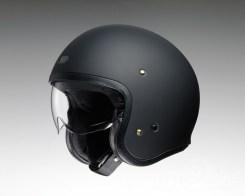 Shoei J•O open-face helmet in matte black.