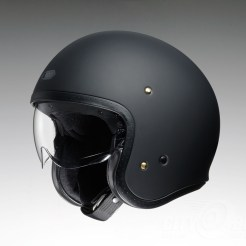 Shoei J•O open-face helmet in matte black.