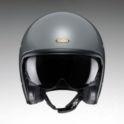 Shoei J•O open-face helmet in rat grey - front.