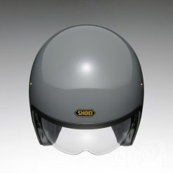Shoei J•O open-face helmet in rat grey - top.
