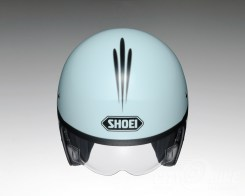 Shoei J•O open face helmet - Sequel - baby blue, top