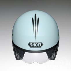 Shoei J•O open face helmet - Sequel - baby blue, top