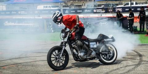 Moto Bay Classic stunter - photo by Tchell Depaepe