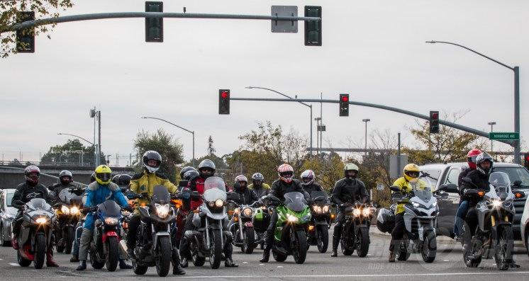 One of the groups of riders that braved the cold for RFGB 2016. Photo: Angelica Rubalcaba.