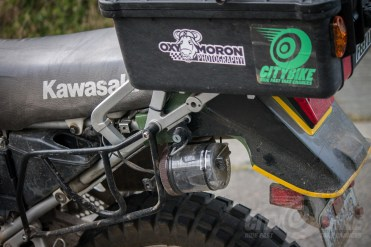 """The C3's DVR mounted in typical """"KLR engineering"""" fashion."""
