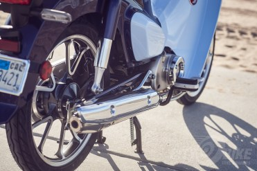 2019 Honda Super Cub rear brake and exhaust.