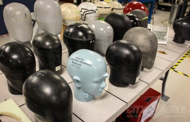 Motorcycle helmet testing. Photos: Angelica Rubalcaba.