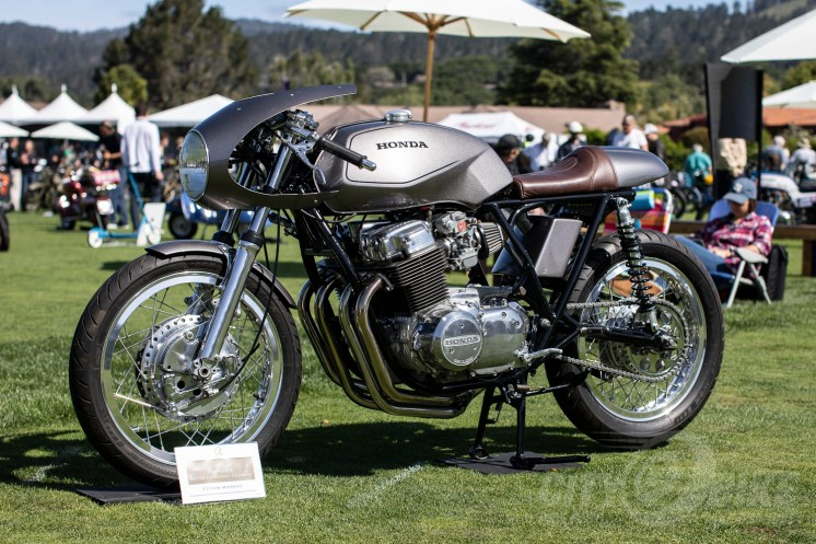 CB750 cafe at the 2019 Quail Motorcycle Gathering. Photo: Angelica Rubalcaba.