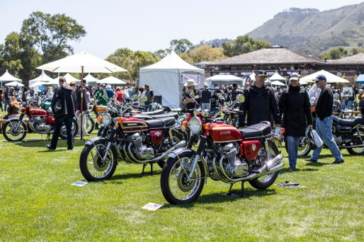 CB750s at the 2019 Quail Motorcycle Gathering. Photo: Angelica Rubalcaba.