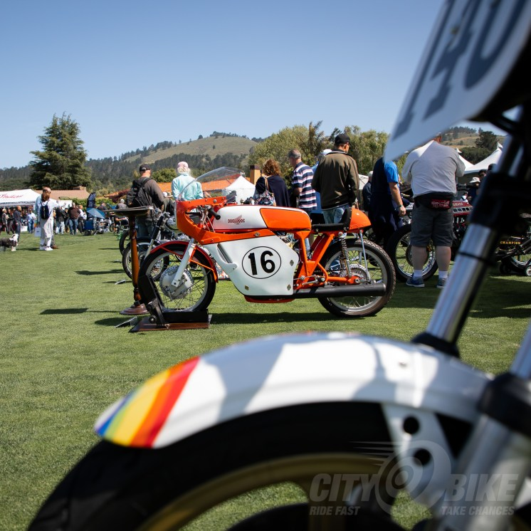 Ron Mousouris's 1967 Honda 450 Daytona Racer at the 2019 Quail Motorcycle Gathering. Photo: Surj Gish