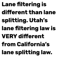 Yeah, Utah says filtering isn't splitting too.