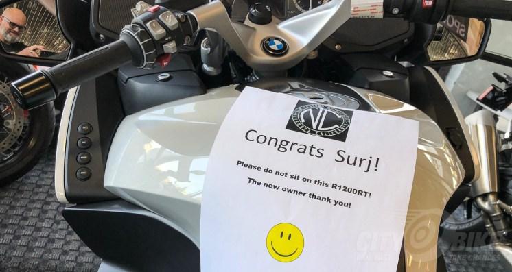 2018 BMW R1200RT. Photo: Surj Gish.