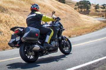 Me on the Versys 1000, circa 2015. Photo: Angelica Rubalcaba