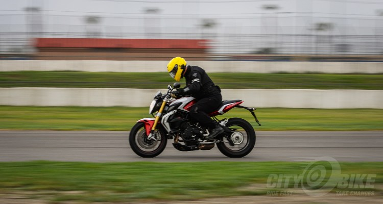 Editor Surj at the MV Agusta event at Auto Club Speedway
