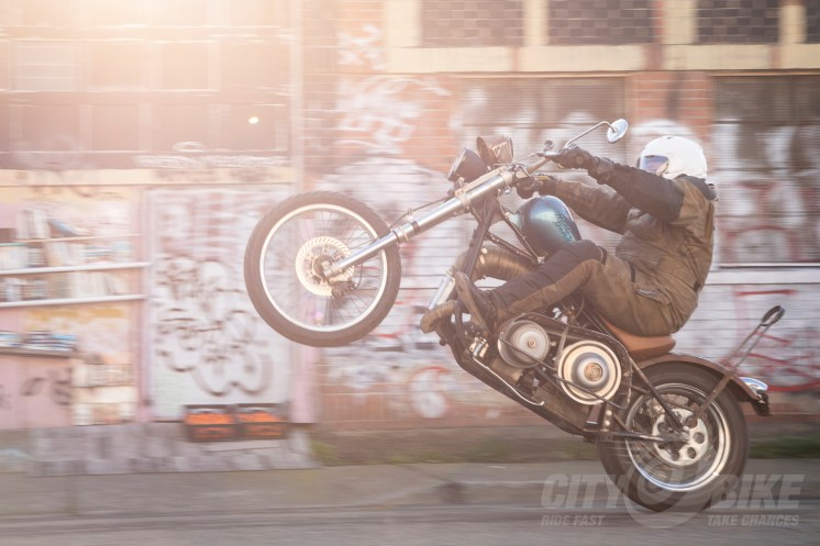 """Manual, DCT, CVT, whatever. They all wheelie!"" Photo: Angelica Rubalcaba."