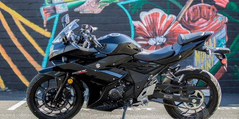 Suzuki GSX250R Brake Light Recall. Photo: Angelica Rubalcaba.