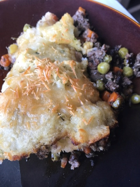 Weekend Recipe: Delectable Sheppard's Pie Topped with Parmesan Cheese