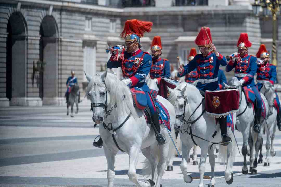 Changing of the Royal Spanish Guard Madrid-1