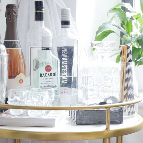 How to Style a Bar Cart: Updated