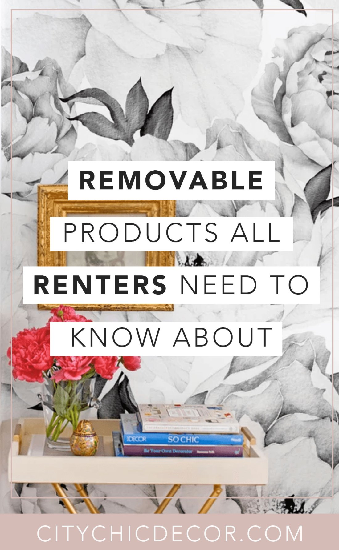 If you live in a rental apartment and struggle decorating it, you need to know about these removable and temporary products. From wallpaper, to flooring and backsplashes, these cheap items will blog you away! #rentalhomedecorating #rentaldecorating #rentalapartmentdecorating #removablewallpaper #removablebacksplash #removableflooring
