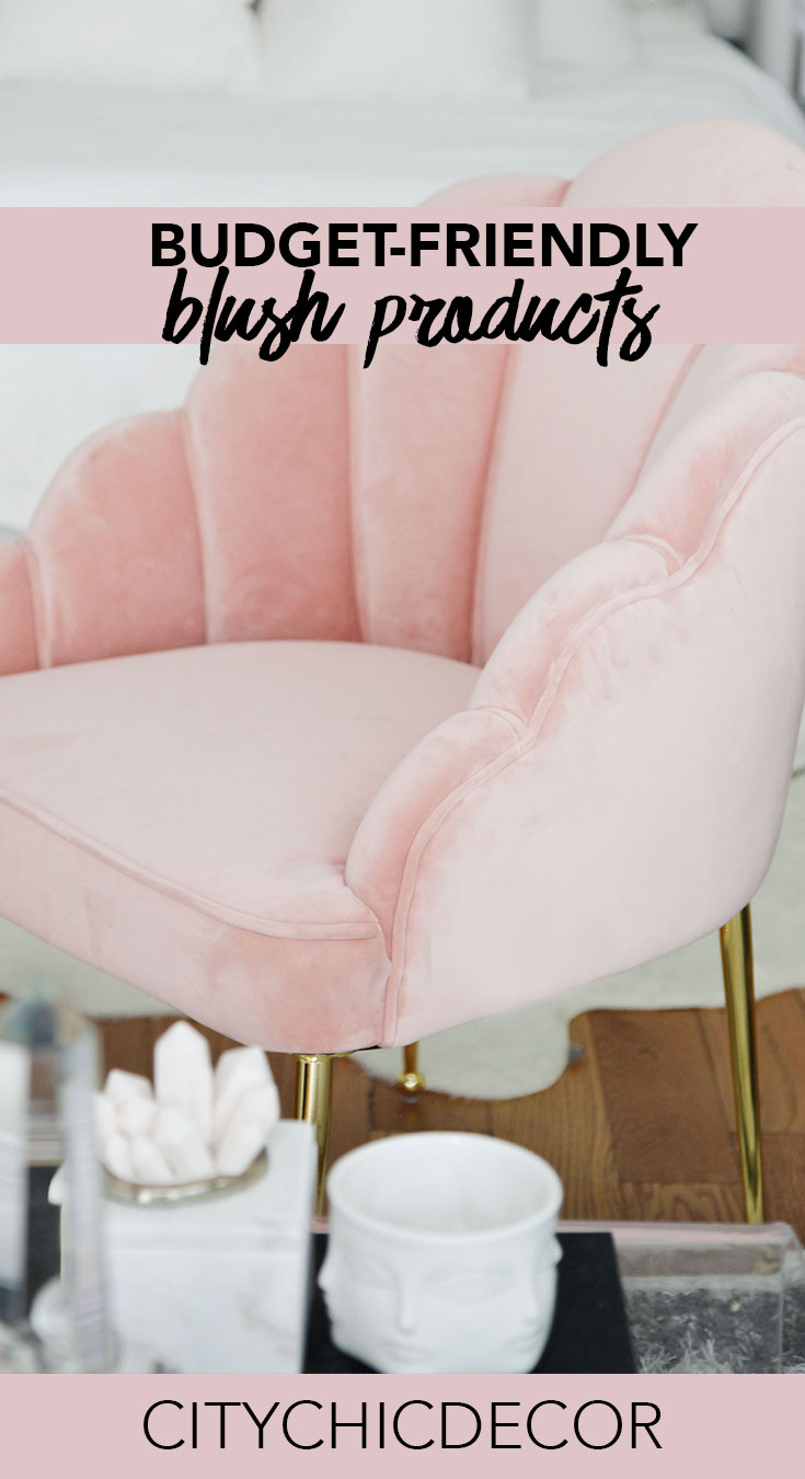 Blush is the color of 2019 and it needs to be part of your home! Here are some budget-friendly, cheap blush products that will make your bedroom, living room and/or apartment stand out! #blushbedroom #blushdecor #blushlivingroom #studioapartmentideas #tinystudioapartmentideas #studioapartmentdecorating #decoratingonabudget #smallapartmentideas #livingroomdecor #livingroomideas