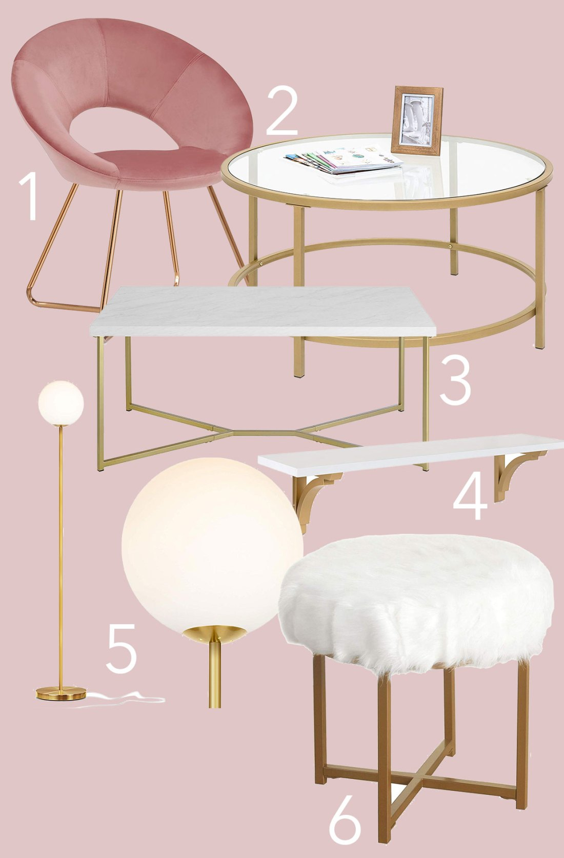Gold Furniture From Amazon Under 100 City Chic Decor