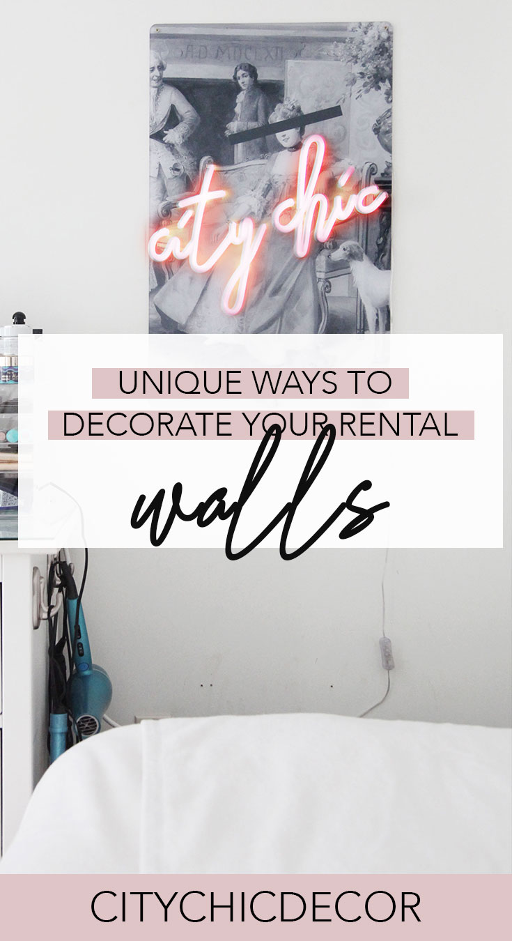 Live in a rental and not sure how to decorate your walls? Believe it or not, there are countless of options besides plain art to fill-up your bland walls! #rentalhomedecorating #rentaldecorating #rentalapartmentdecorating #livingroomdecor #livingroomideas #walldecor