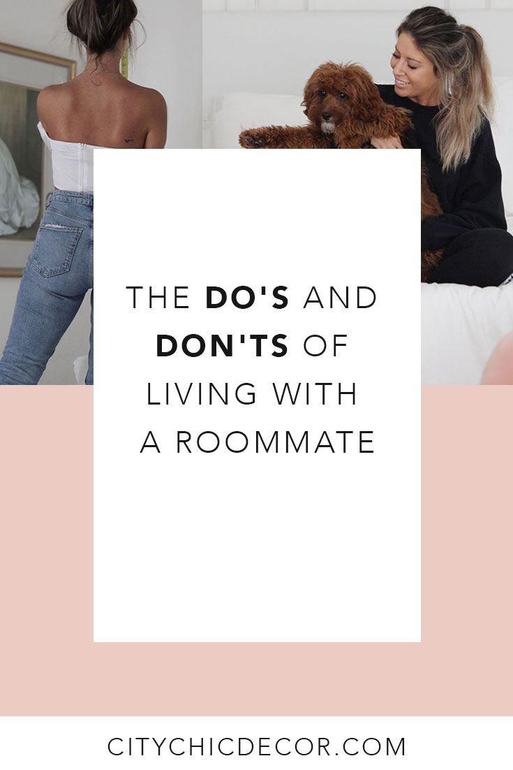 Living with a roommate or a boyfriend? Living with your best friend or someone random? No worries! These tips will help you survive living with someone else … especially if you have different interior tastes! These tips will make living with a roommate easier and will create harmony between you when decorating your apartment together! Decorating with roommates can be a struggle … but these tips will help!