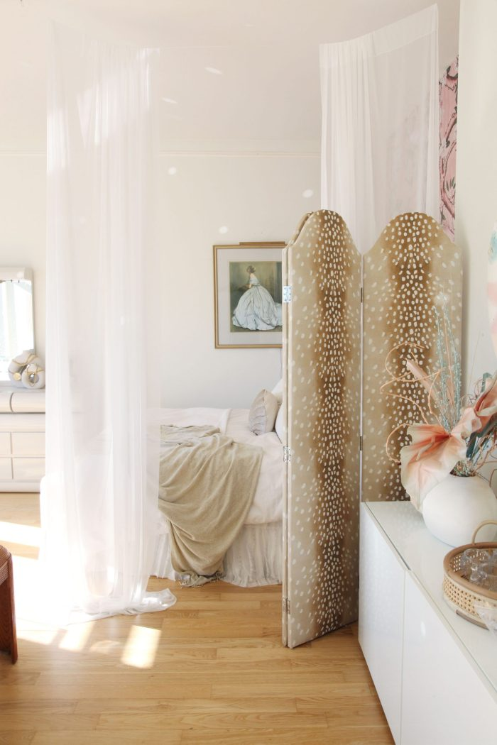 How to Make a Chic Room Divider with Curtains