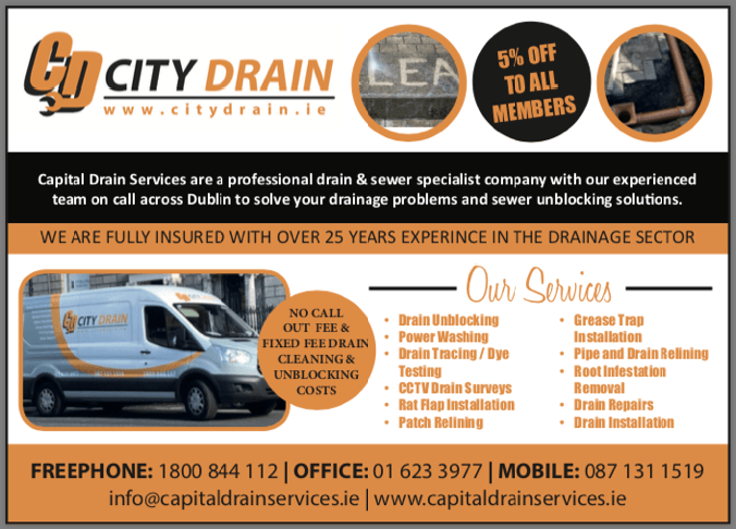 Dublin city drain - drain cleaning - drain unblocking - drain pipe repair