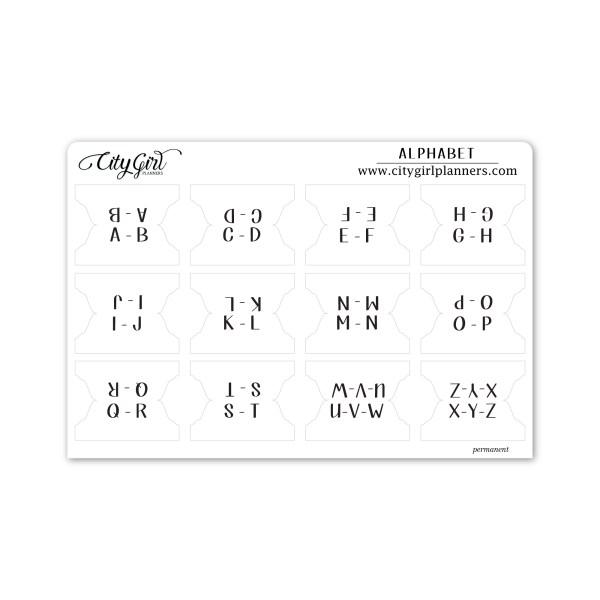 Large Alphabet planner tabs