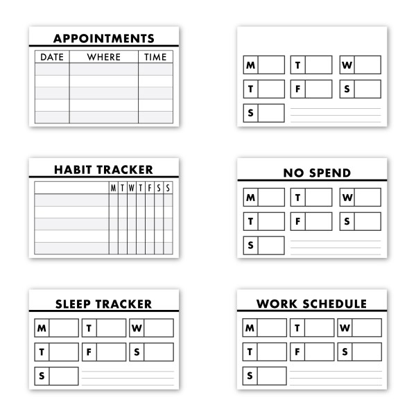 Tip Ins for rings, strings and disc planners