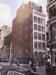 Rendering of proposed building at 74 Grand Street.
