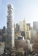 Rendering of 56 Leonard Street tower, Manhattan. Image Credit: 56 Leonard LLC.