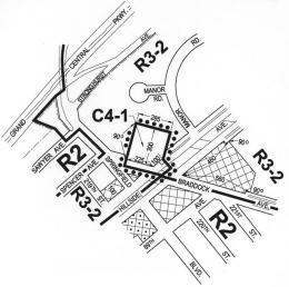 Map of the Braddock-Hillside Rezoning. Image Credit: CPC.