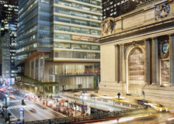 Architect's rendering of One Vanderbilt Place and Grand Central Terminal. Image credit: Kohn Pedersen Fox Associates