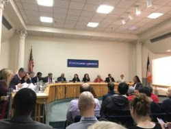City Planning Commissioners preparing to begin the February 3rd meeting. Image credit: CityLand