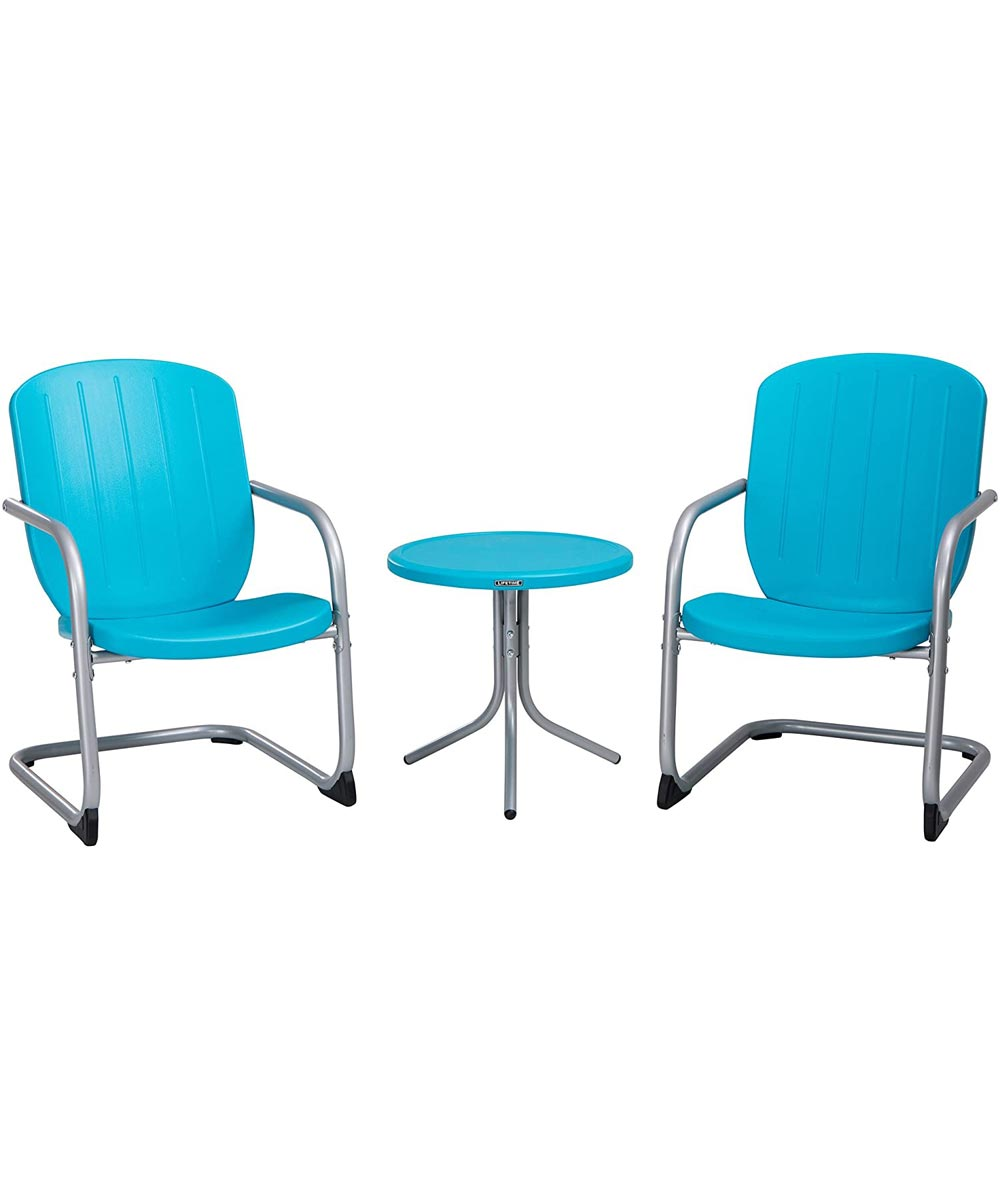 lifetime retro patio furniture set with table and 2 chairs