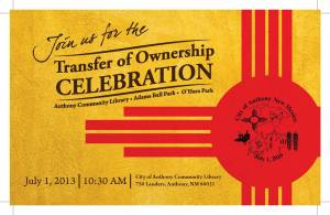 Invitation from July 2013