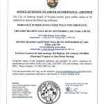Notice of Intent to Amend an Ordinance