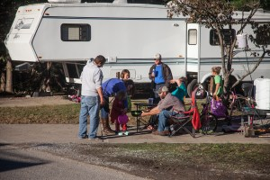 people enjoying camping and picnics