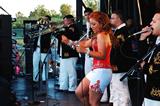 Performance on-stage at the Festival de La Villita (Little Village Festival)