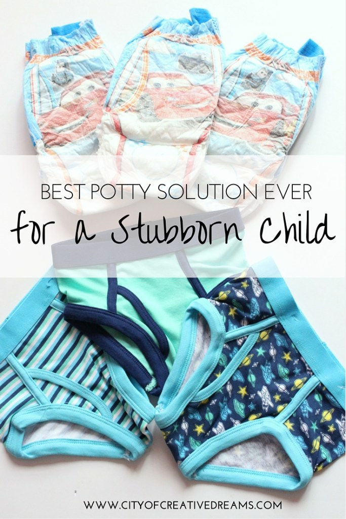 Best Potty Solution Ever for a Stubborn Child   City of Creative Dreams
