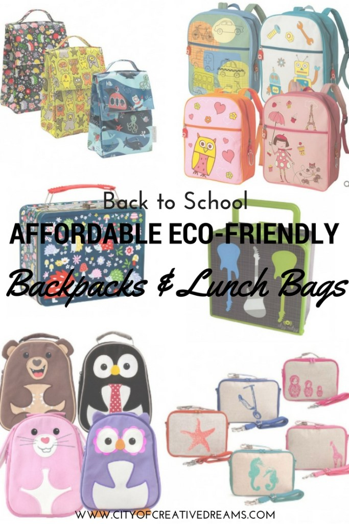 Back to School Affordable Eco-Friendly Backpacks & Lunch Bags | City of Creative Dreams