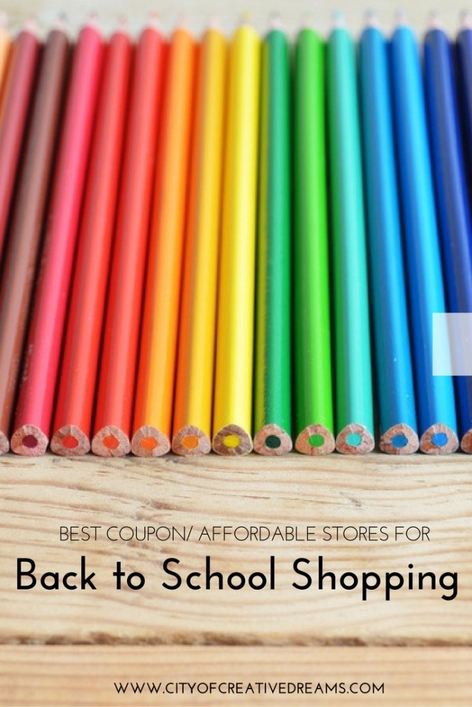 Best Coupon/ Affordable Stores for Back to School Shopping   City of Creative Dreams