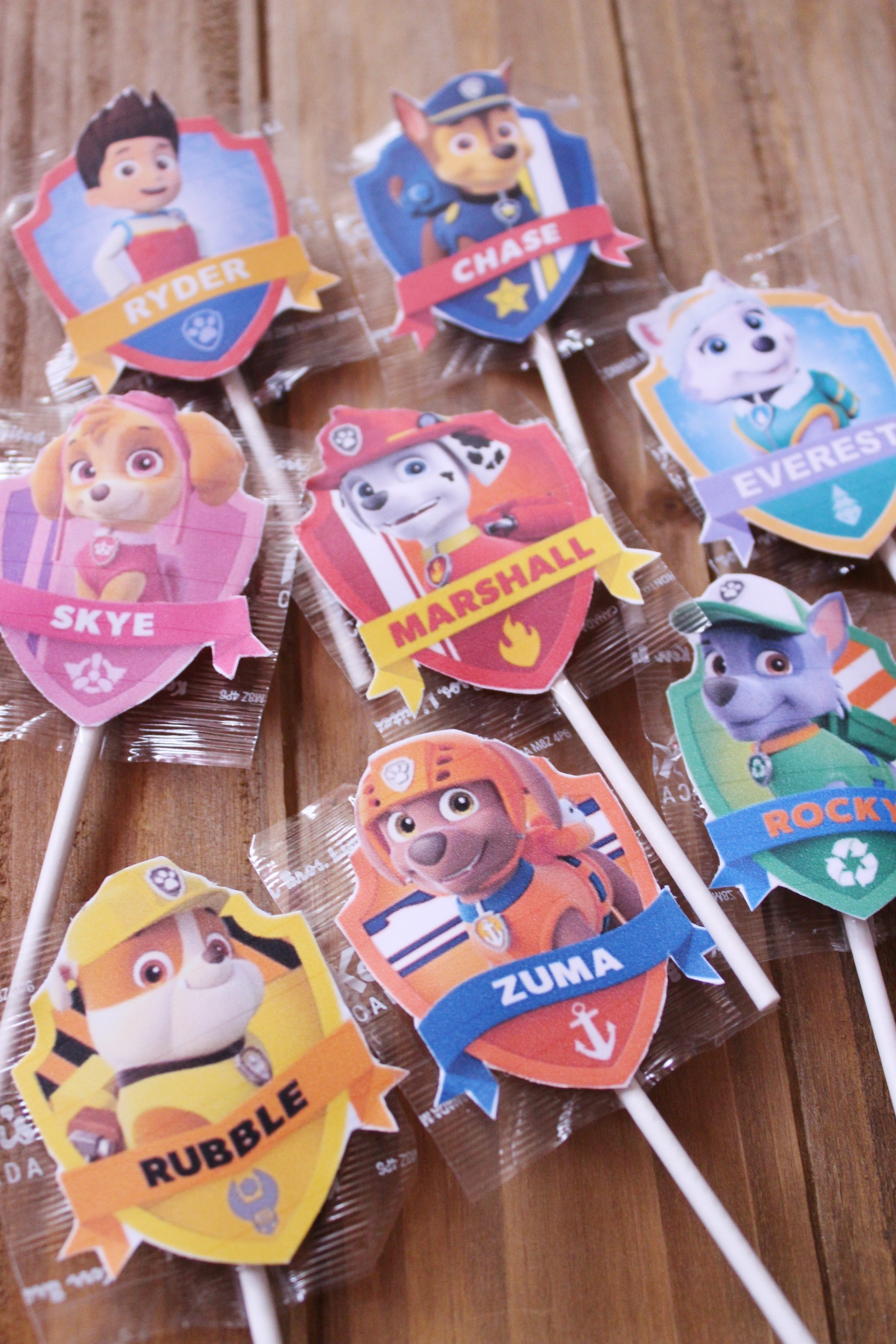 picture relating to Paw Patrol Printable Decorations named Paw Patrol Lollipop Labels + Totally free Printable - Metropolis of