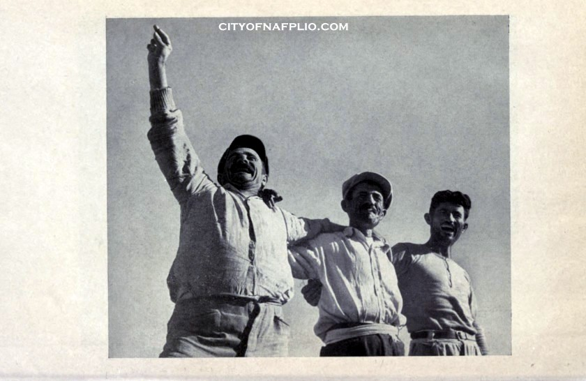 fishermen from the gulf of Nauplia dancing